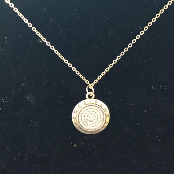 Pandora Jewelry Signature Pendant Necklace Clear Cz Poshmark
